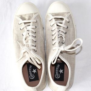 Converse cream and white shoes